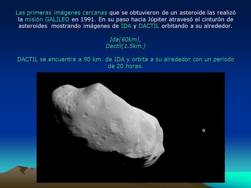 Las primeras imágenes cercanas que se obtuvieron de un asteroide las realizó la misión GALILEO en 1991.