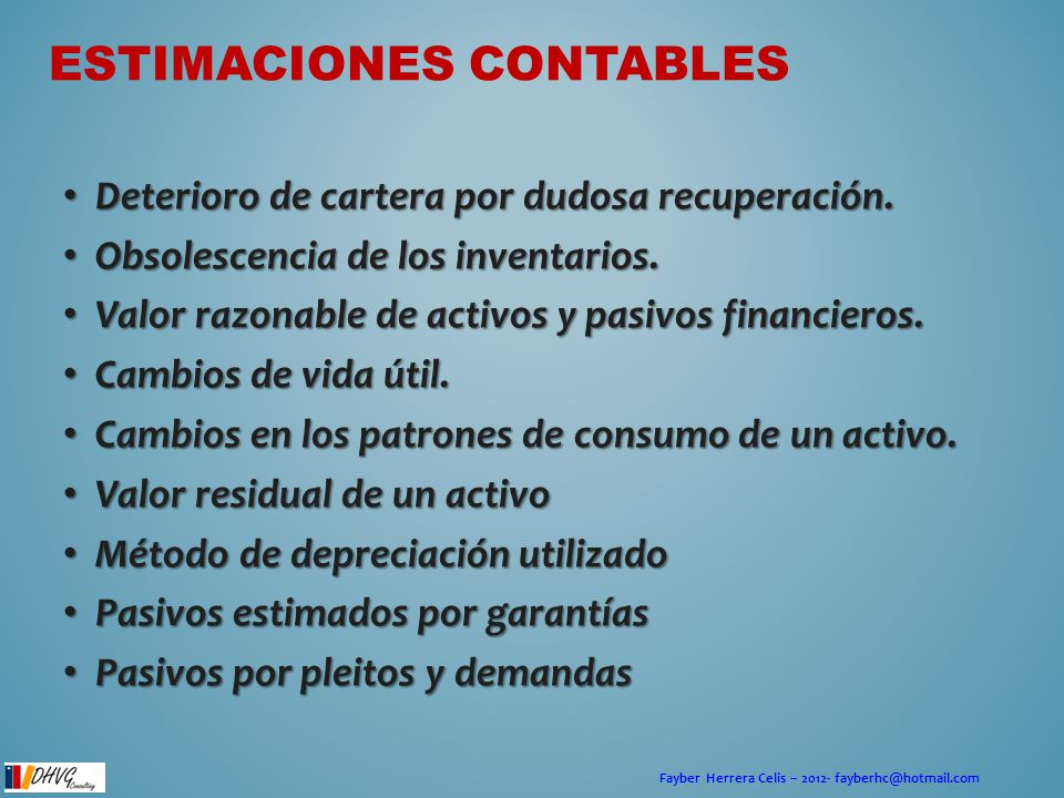 Estimaciones contables