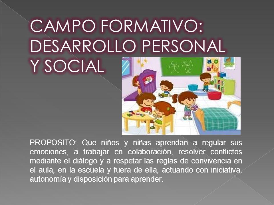 CAMPO FORMATIVO: DESARROLLO PERSONAL Y SOCIAL