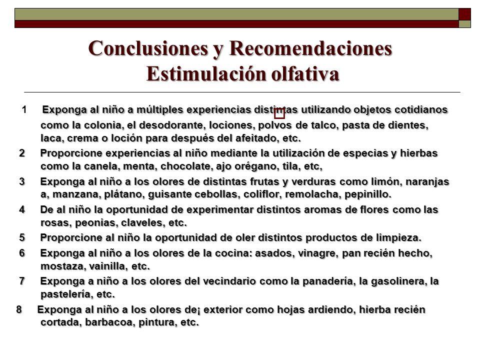 Conclusiones y Recomendaciones Estimulación olfativa