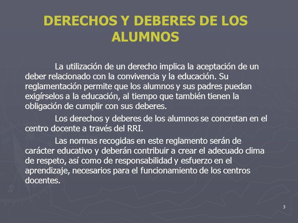 DERECHOS Y DEBERES DE LOS ALUMNOS
