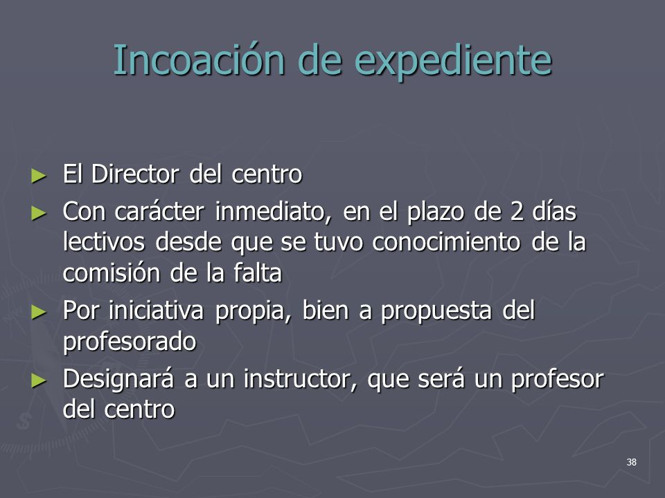 Incoación de expediente