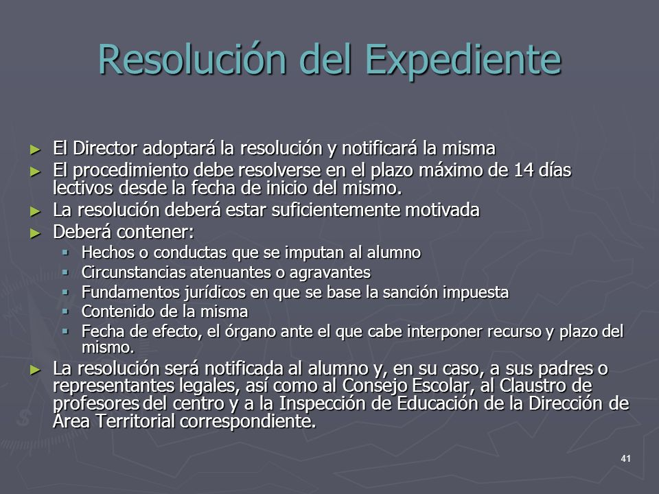 Resolución del Expediente