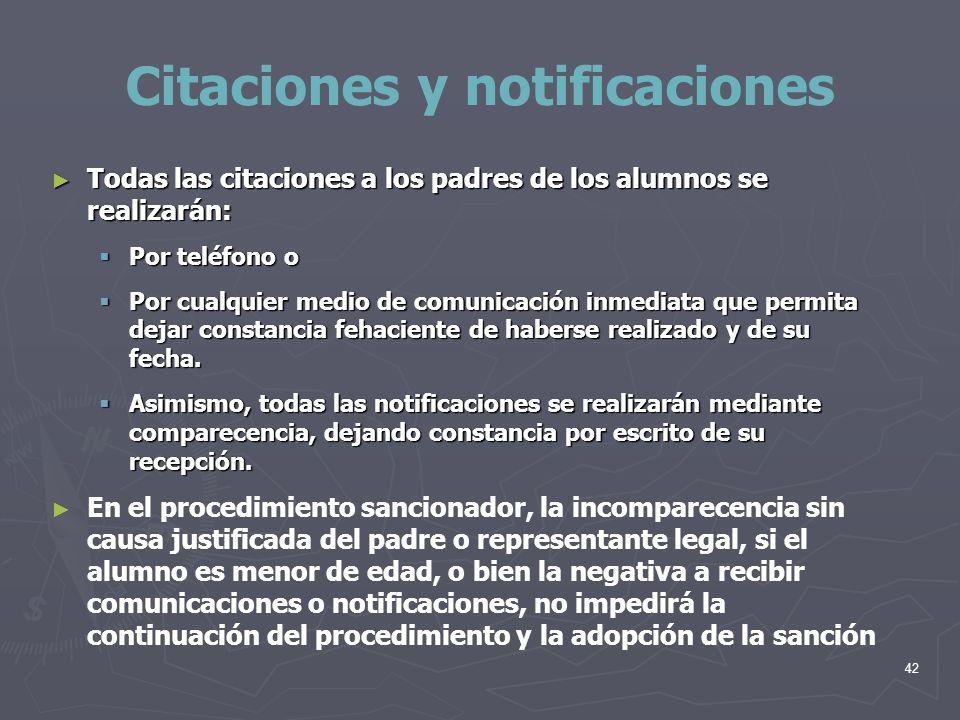 Citaciones y notificaciones