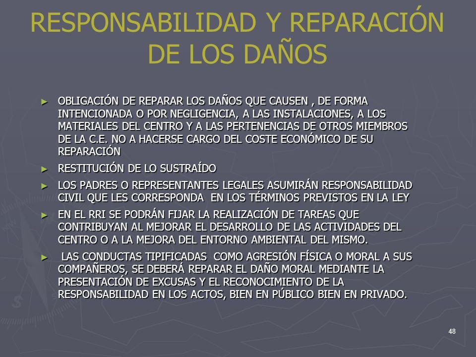 RESPONSABILIDAD Y REPARACIÓN DE LOS DAÑOS