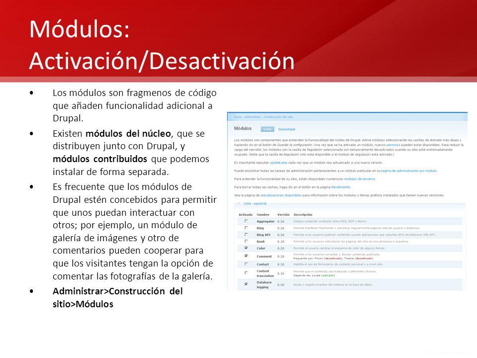 Módulos: Activación/Desactivación