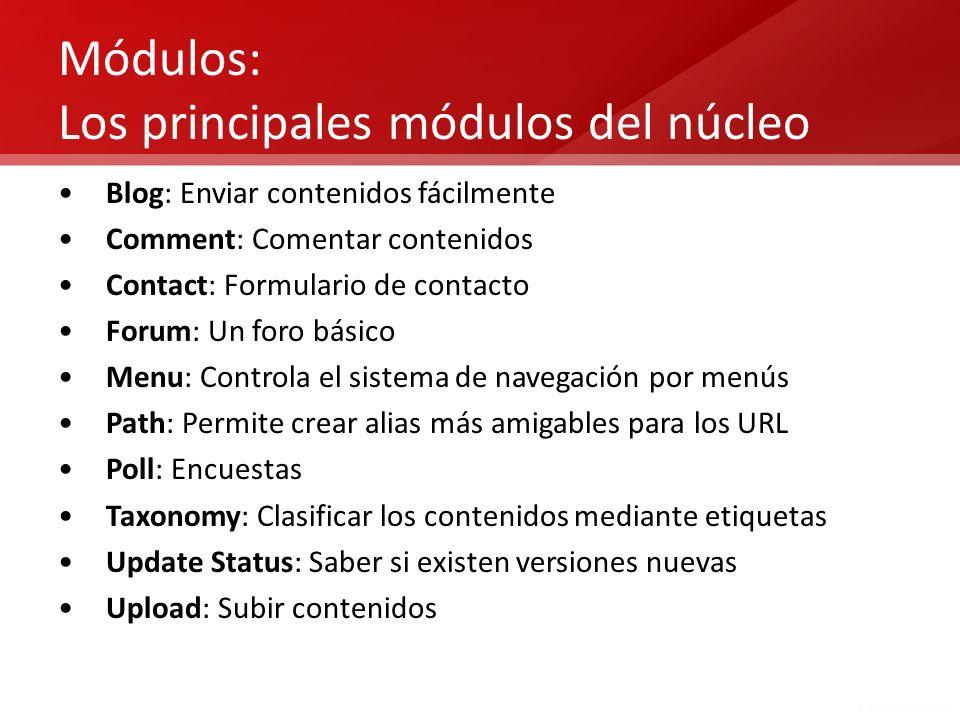 Módulos: Los principales módulos del núcleo