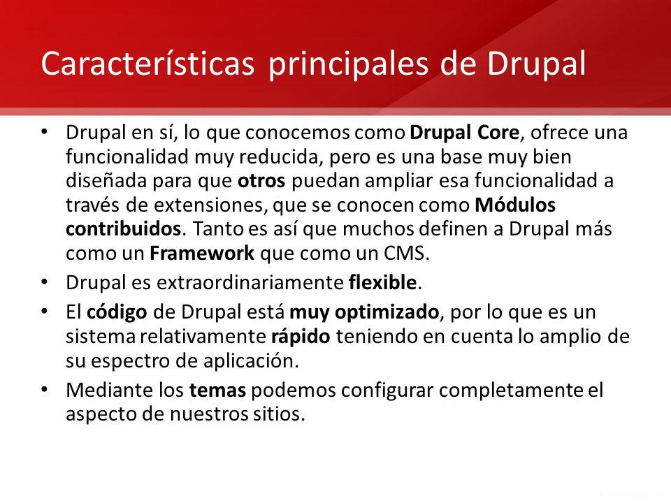Características principales de Drupal