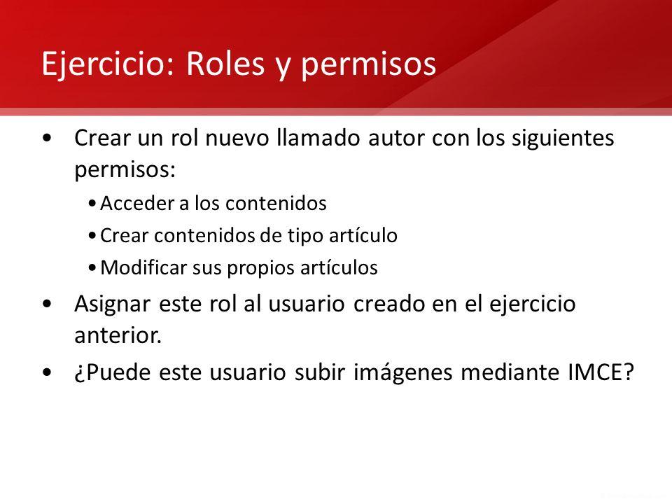 Ejercicio: Roles y permisos
