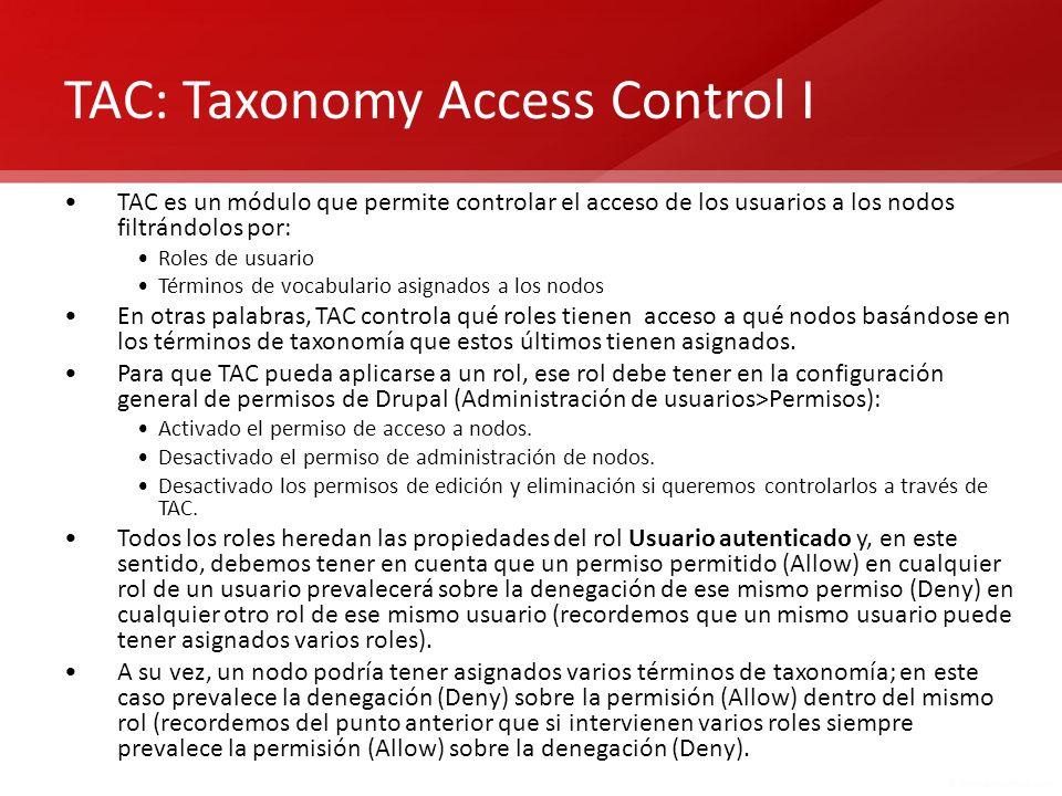 TAC: Taxonomy Access Control I