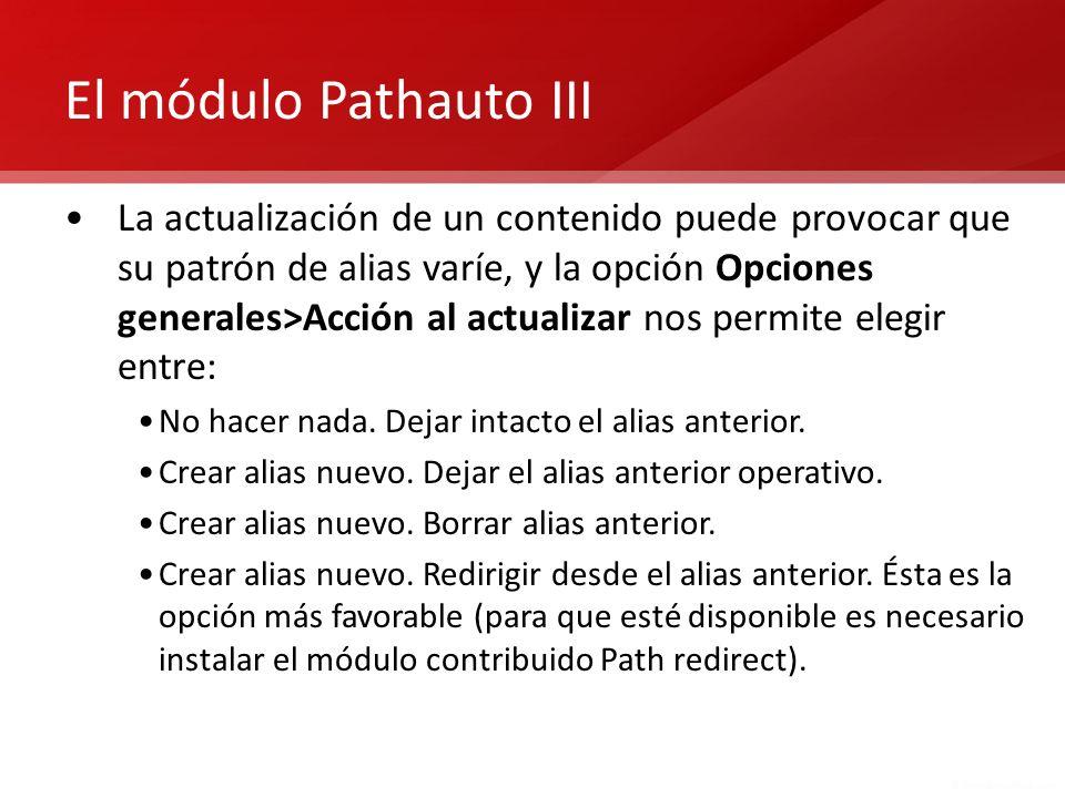 El módulo Pathauto III