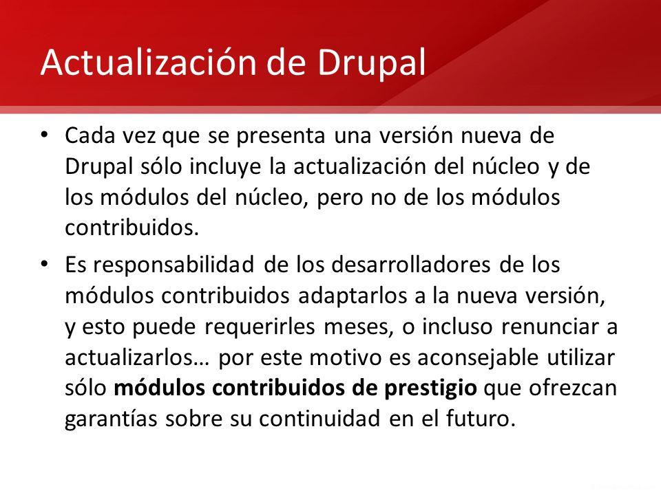 Actualización de Drupal