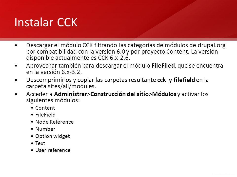 Instalar CCK