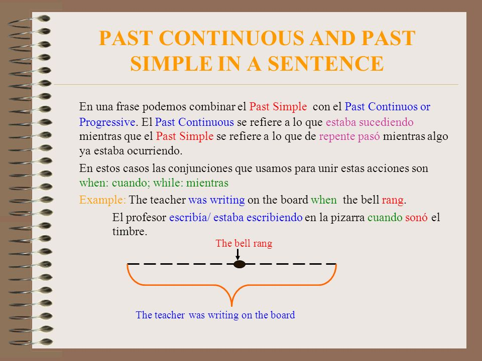 PAST CONTINUOUS AND PAST SIMPLE IN A SENTENCE