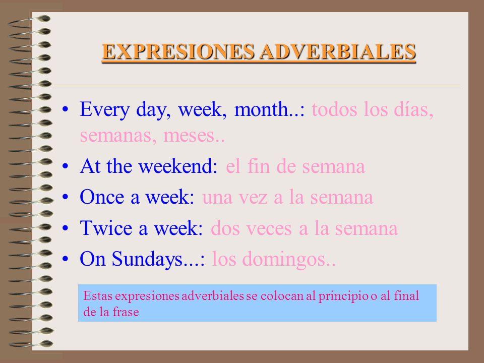 EXPRESIONES ADVERBIALES