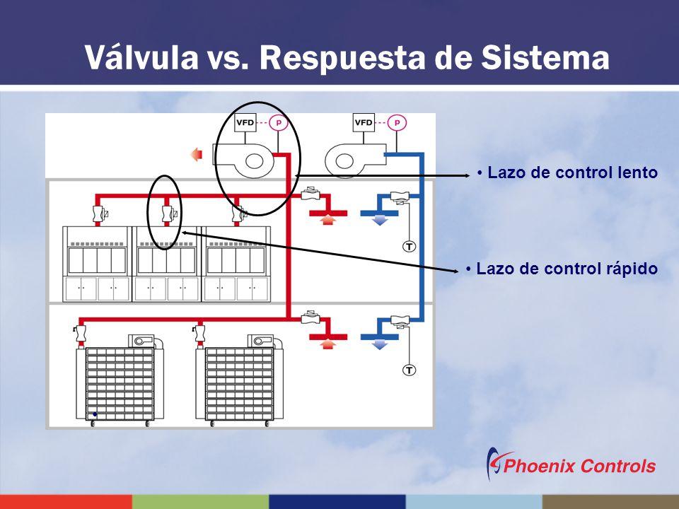 Válvula vs. Respuesta de Sistema