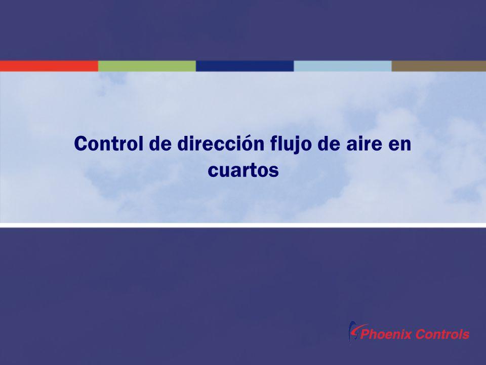 Control de dirección flujo de aire en cuartos