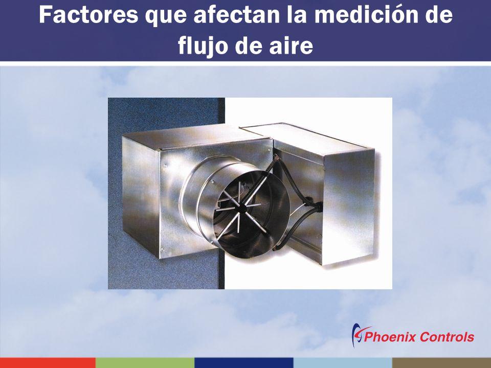 Factores que afectan la medición de flujo de aire