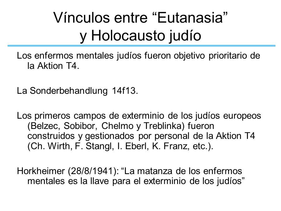 Vínculos entre Eutanasia y Holocausto judío