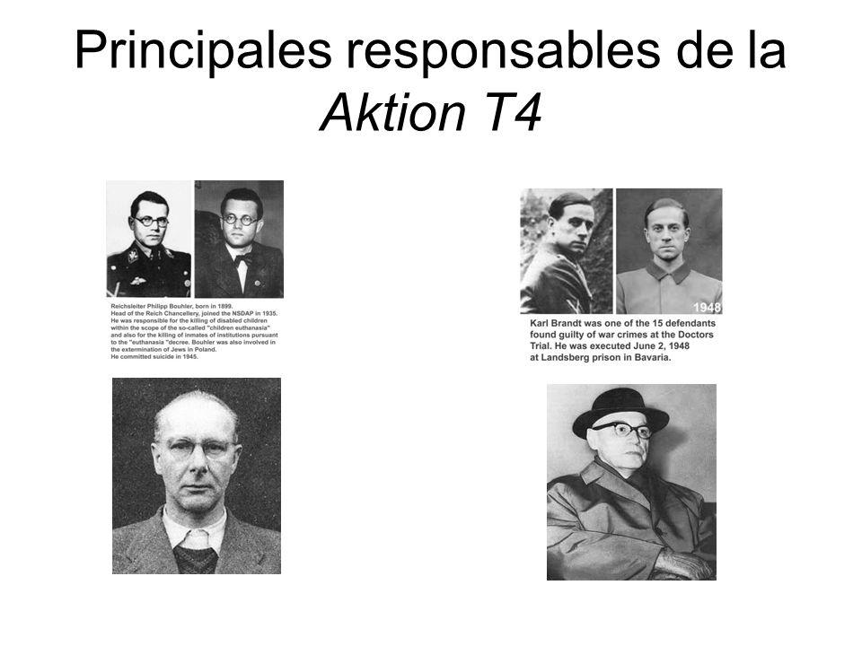 Principales responsables de la Aktion T4
