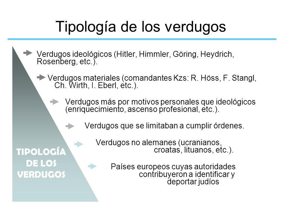 Tipología de los verdugos
