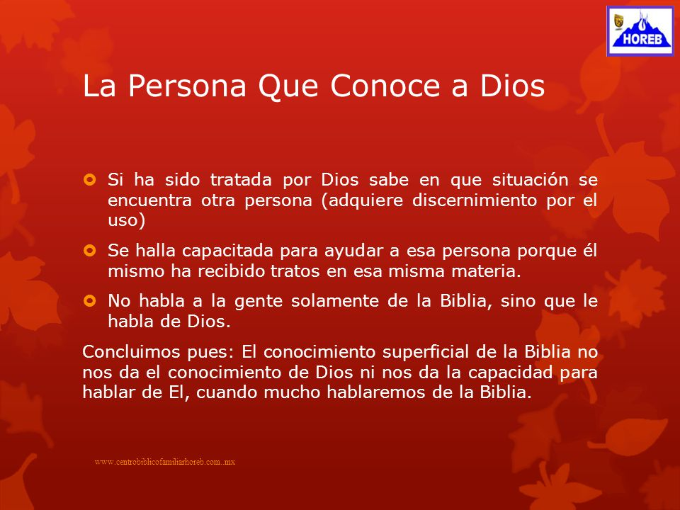 La Persona Que Conoce a Dios