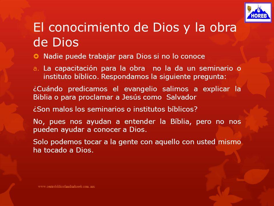 El conocimiento de Dios y la obra de Dios