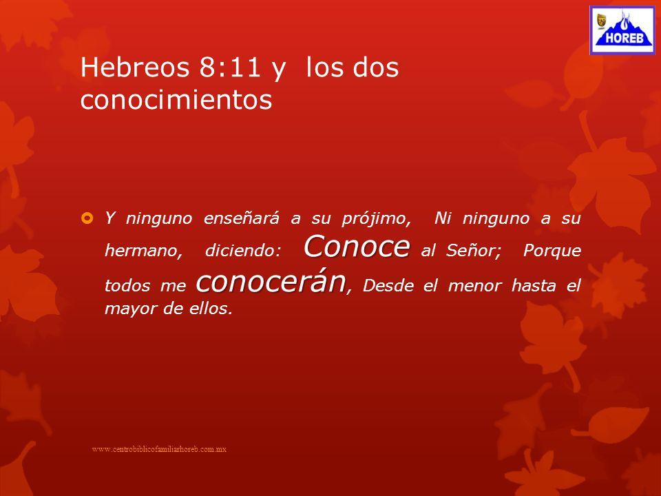 Hebreos 8:11 y los dos conocimientos