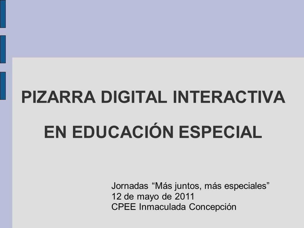PIZARRA DIGITAL INTERACTIVA EN EDUCACIÓN ESPECIAL