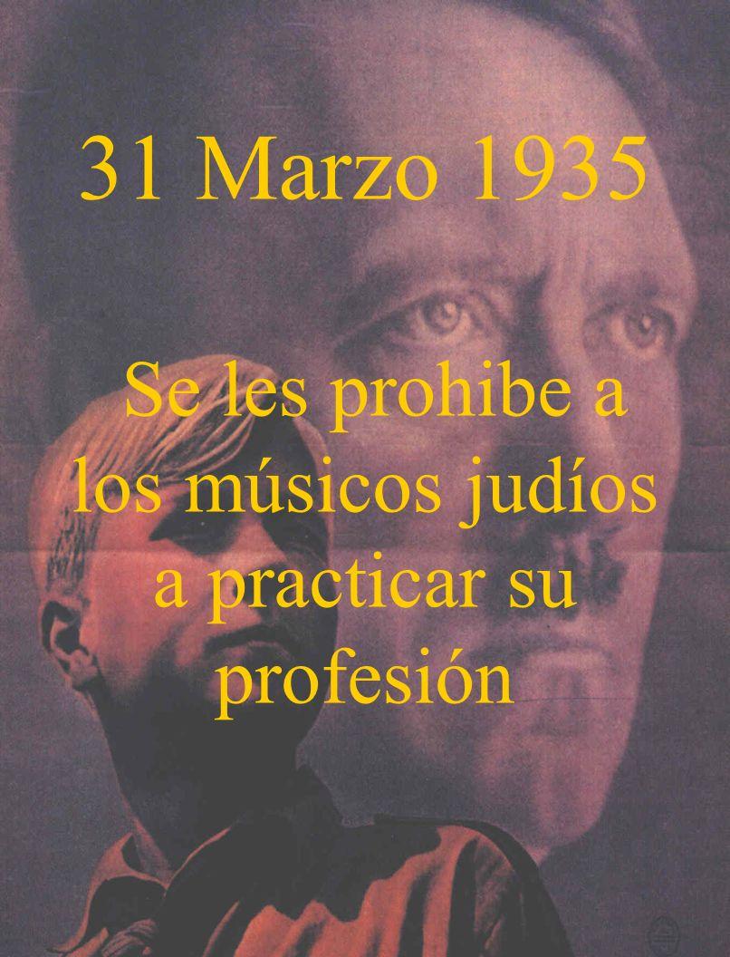 Se les prohibe a los músicos judíos a practicar su profesión