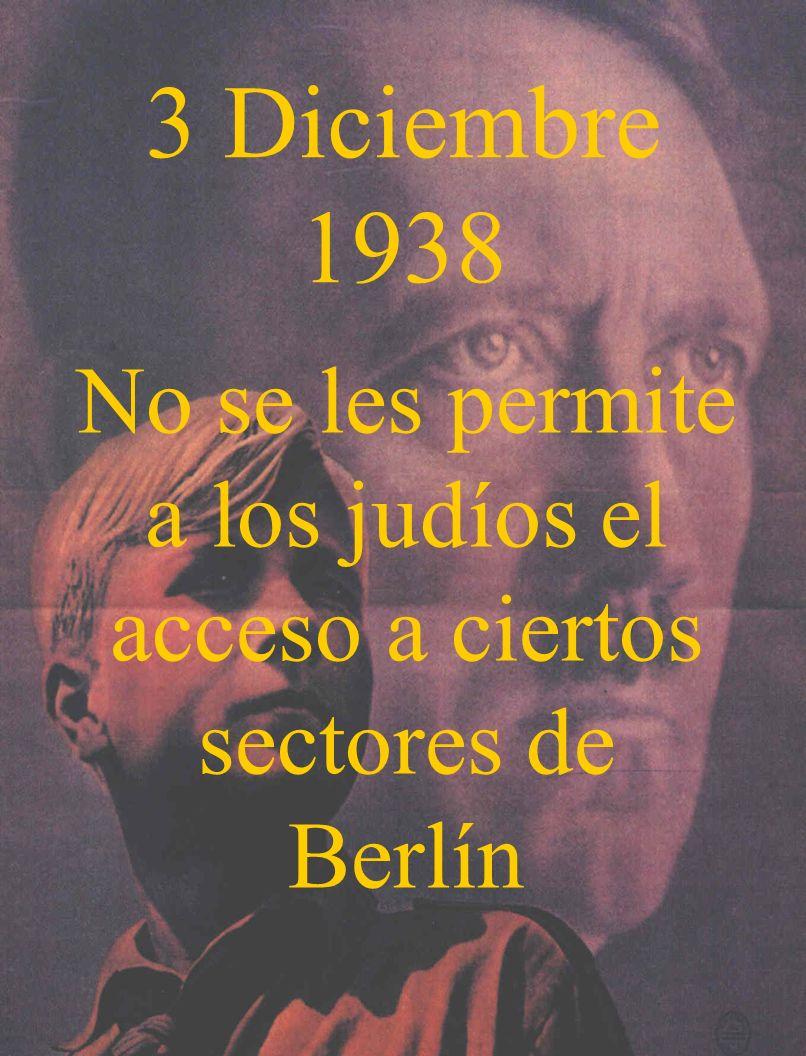 No se les permite a los judíos el acceso a ciertos sectores de Berlín