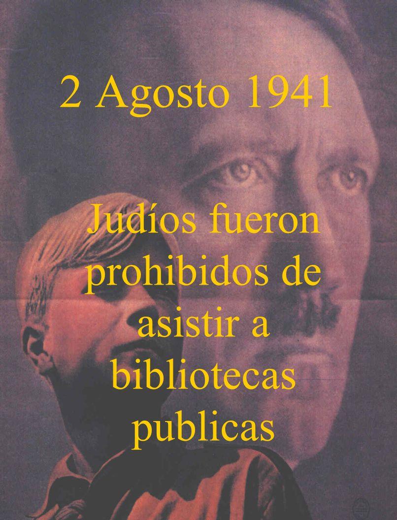 Judíos fueron prohibidos de asistir a bibliotecas publicas