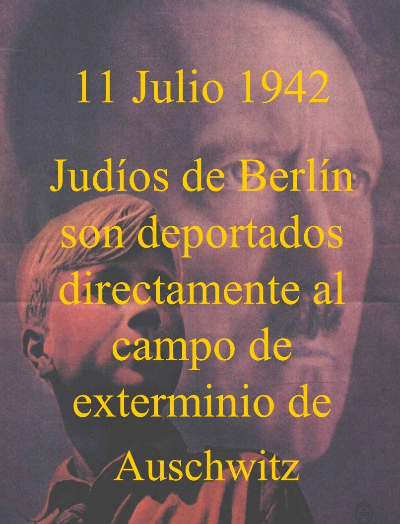 Judíos de Berlín son deportados directamente al campo de exterminio de
