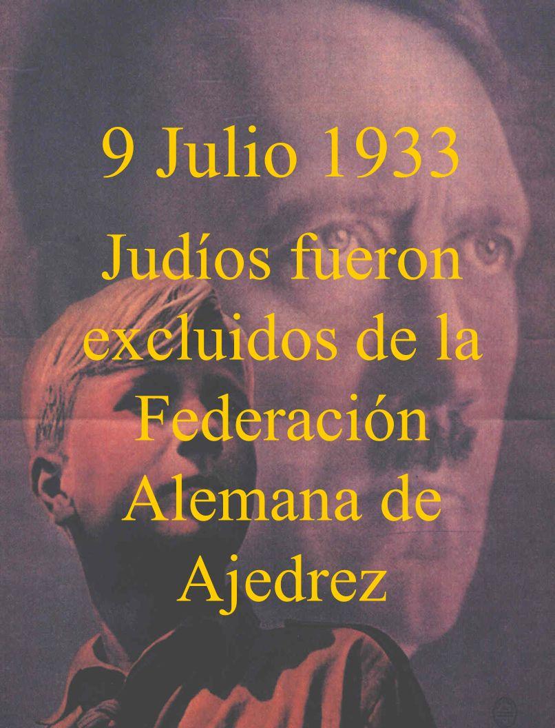 Judíos fueron excluidos de la Federación Alemana de Ajedrez