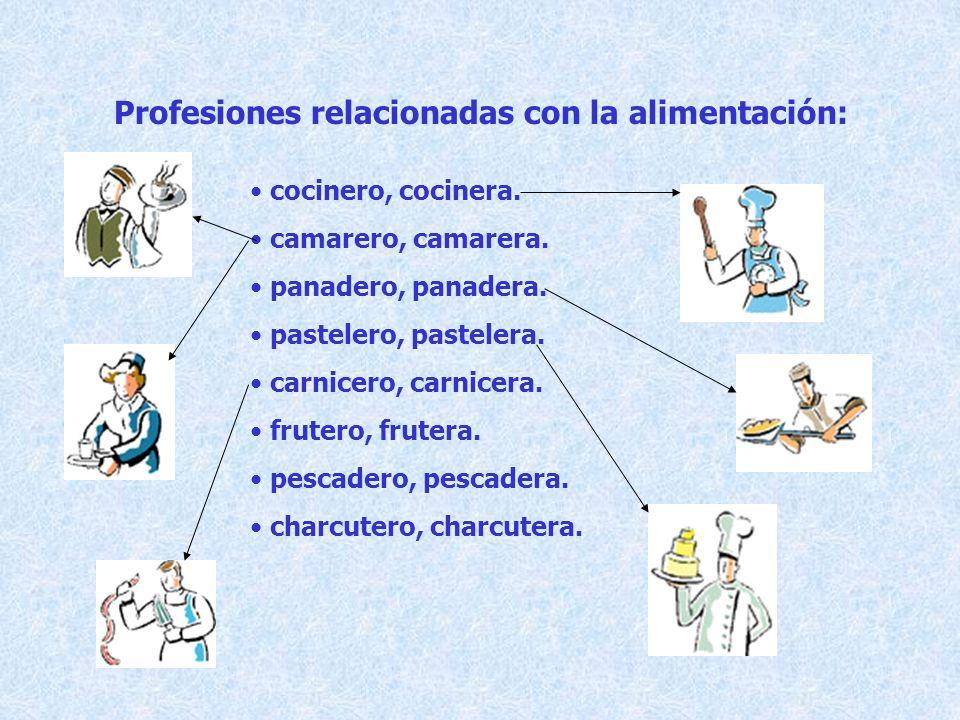 Profesiones relacionadas con la alimentación: