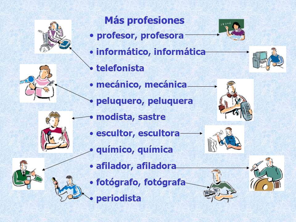 Más profesiones profesor, profesora informático, informática