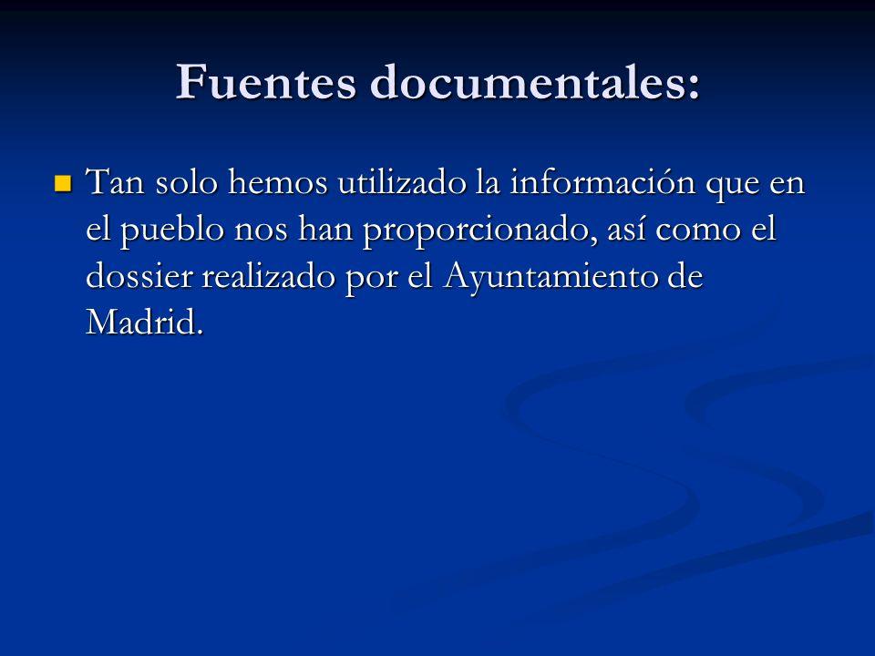 Fuentes documentales: