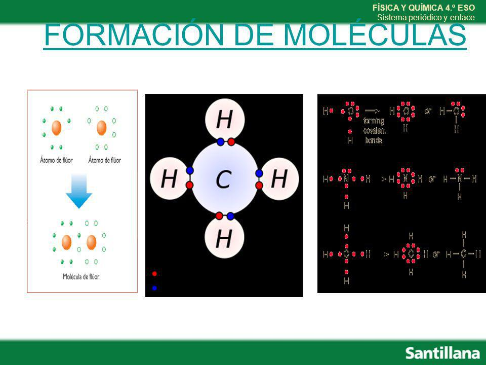 FORMACIÓN DE MOLÉCULAS