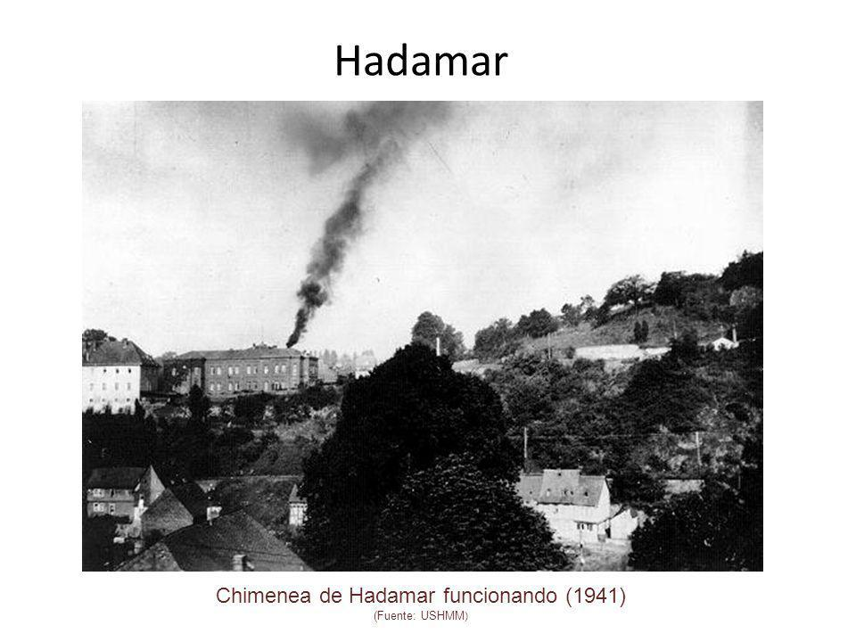Chimenea de Hadamar funcionando (1941) (Fuente: USHMM)