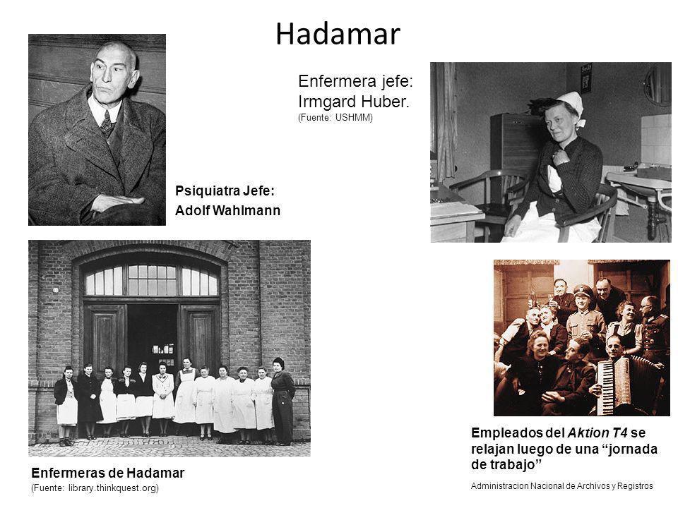 Hadamar Enfermera jefe: Irmgard Huber. (Fuente: USHMM)