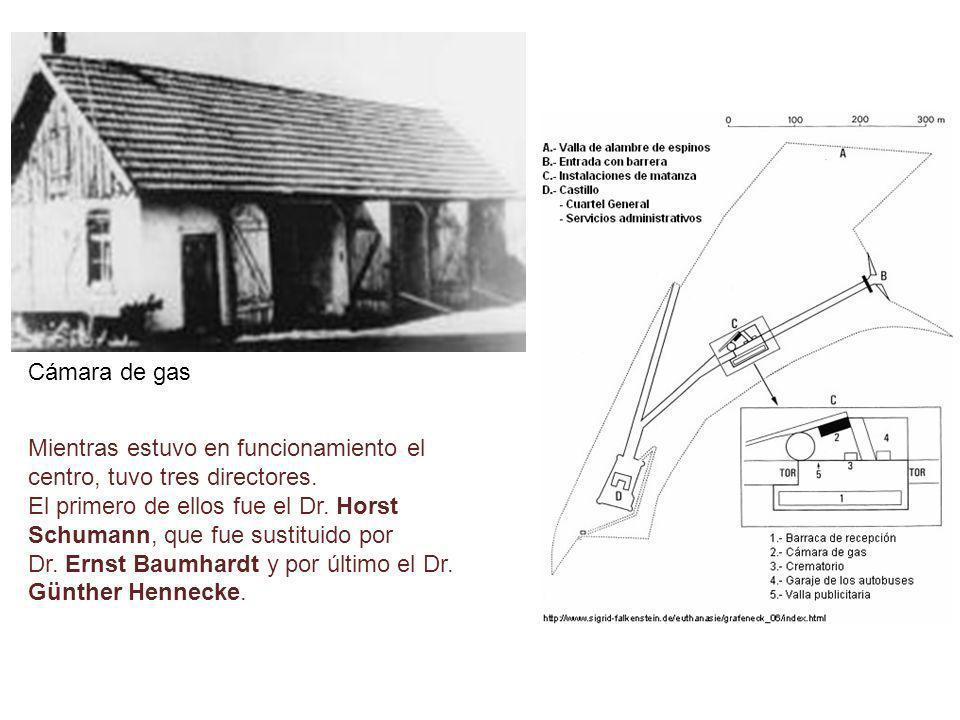 Cámara de gasMientras estuvo en funcionamiento el centro, tuvo tres directores.
