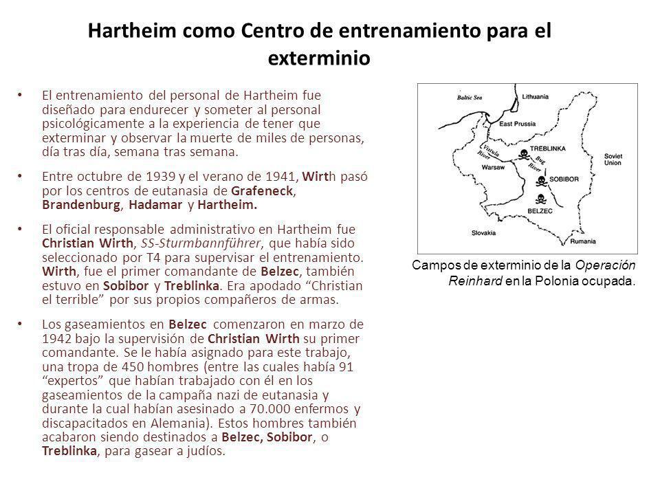Hartheim como Centro de entrenamiento para el exterminio
