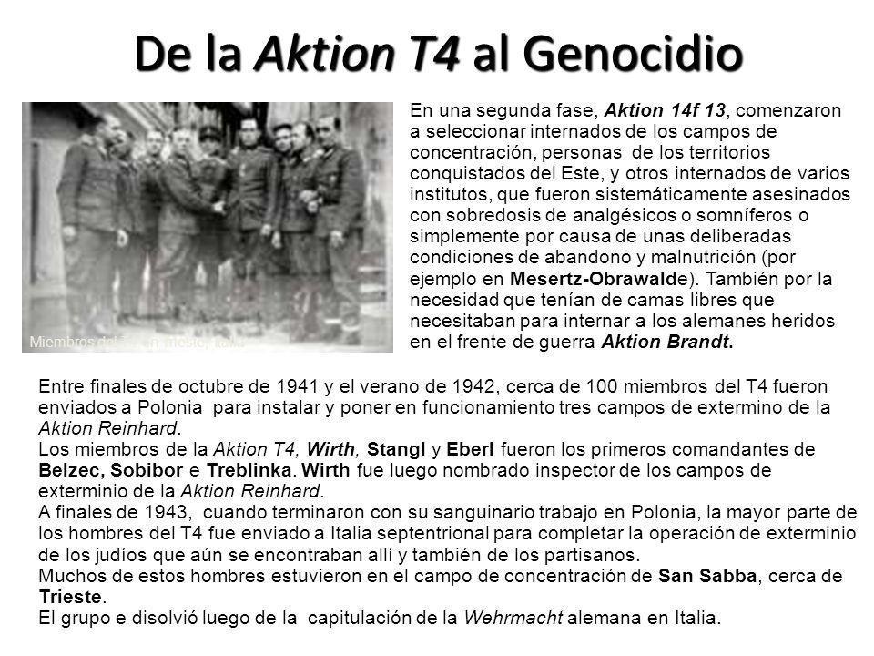 De la Aktion T4 al Genocidio