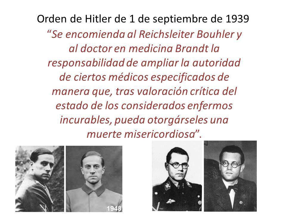 Orden de Hitler de 1 de septiembre de 1939