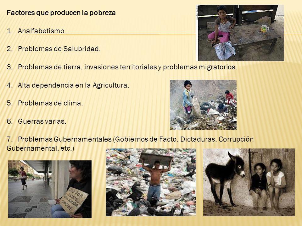 Factores que producen la pobreza