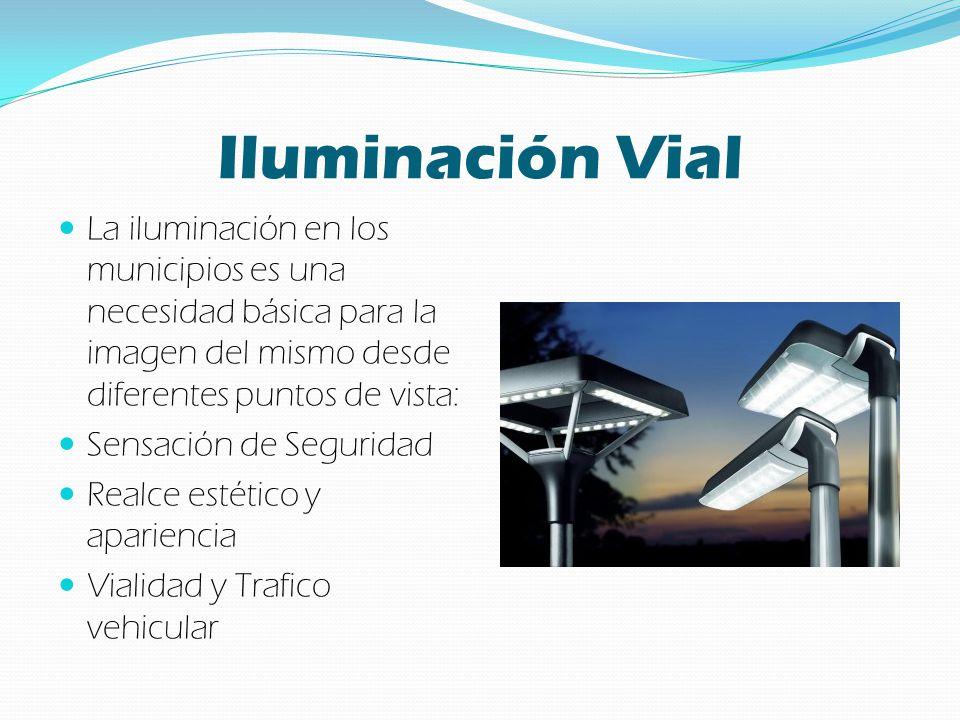 Iluminación Vial La iluminación en los municipios es una necesidad básica para la imagen del mismo desde diferentes puntos de vista: