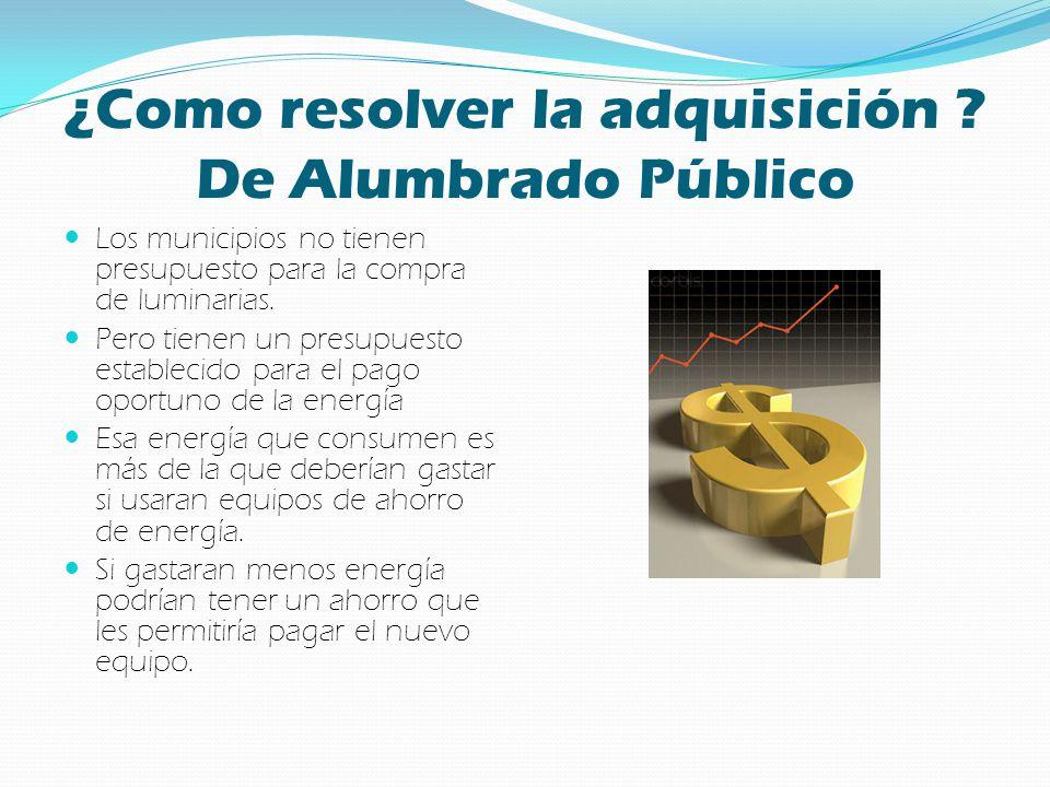 ¿Como resolver la adquisición De Alumbrado Público