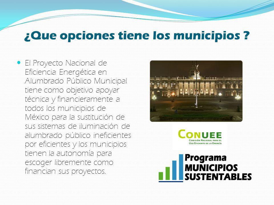 ¿Que opciones tiene los municipios