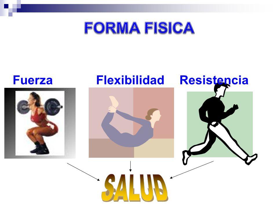 FORMA FISICA Fuerza Flexibilidad Resistencia SALUD