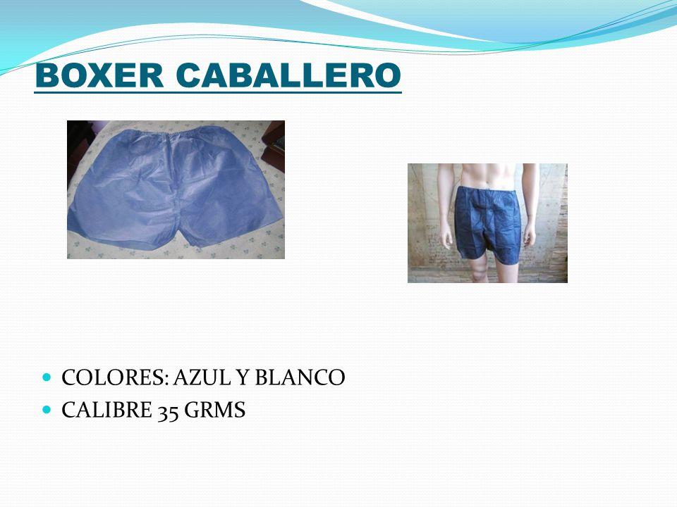 BOXER CABALLERO COLORES: AZUL Y BLANCO CALIBRE 35 GRMS